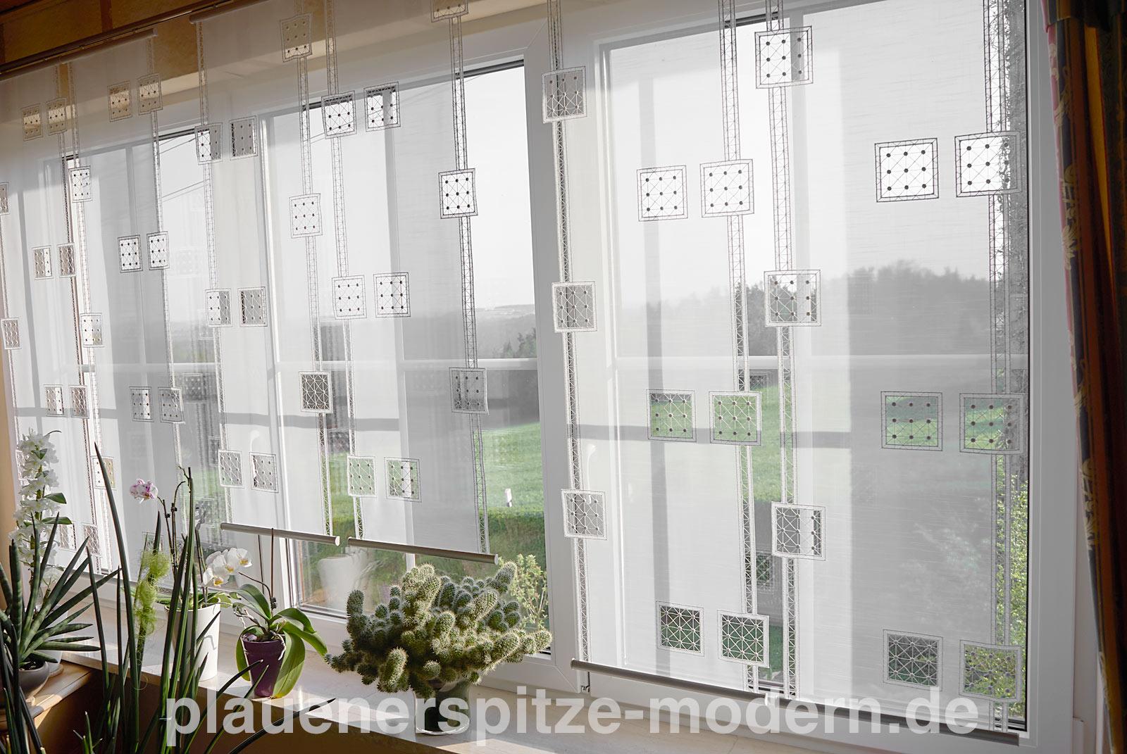 Full Size of Moderne Gardinen Moderner Flchenvorhang Plauener Spitze Flchenvorhnge Kaufen Für Küche Schlafzimmer Modernes Bett Wohnzimmer Duschen Die Deckenleuchte Sofa Wohnzimmer Moderne Gardinen