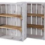 Kisten Regal Holzkisten Mit 3 Fchern 50x40x16cm Rot Weiß Hochglanz Schreibtisch Usm Haller Industrie Schubladen Weißes Hängeregal Küche Werkstatt Auf Maß Regal Kisten Regal
