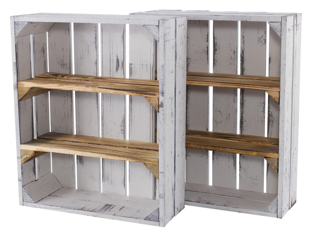 Full Size of Kisten Regal Holzkisten Mit 3 Fchern 50x40x16cm Rot Weiß Hochglanz Schreibtisch Usm Haller Industrie Schubladen Weißes Hängeregal Küche Werkstatt Auf Maß Regal Kisten Regal