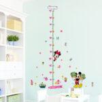 Kinderzimmer Dekoration Kinderzimmer Minnie Mickey Wachstum Chart Wandaufkleber Fr Sofa Regale Regal Weiß Wohnzimmer