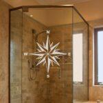 Dusche Aufkleber Windrose Aus Glasdekorfolie Gdt612 Fensterdeko Walk In Barrierefreie Wandregal Küche Trennwand Garten Lärmschutzwand Anbauwand Wohnzimmer Dusche Dusche Wand