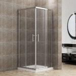 Duschkabine Eckeinstieg Doppel Schiebetr Echtglas Duschwand 76 80 Haltegriff Dusche Bodengleiche Fliesen Bodenebene Moderne Duschen Für Glastür Begehbare Dusche Schiebetür Dusche