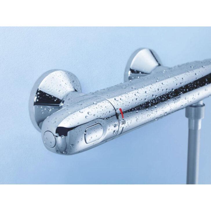 Medium Size of Grohe Thermostat Dusche Brausebatterie Grohtherm 1000 Metall 2 Glaswand Raindance Bodenebene Bodengleiche Nachträglich Einbauen Eckeinstieg Hüppe Dusche Grohe Thermostat Dusche