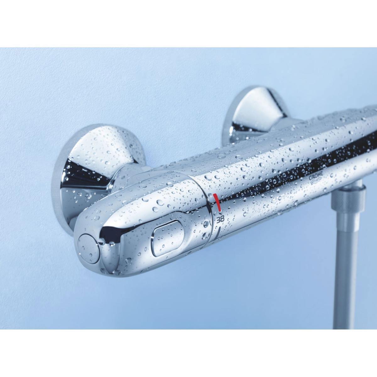 Full Size of Grohe Thermostat Dusche Brausebatterie Grohtherm 1000 Metall 2 Glaswand Raindance Bodenebene Bodengleiche Nachträglich Einbauen Eckeinstieg Hüppe Dusche Grohe Thermostat Dusche