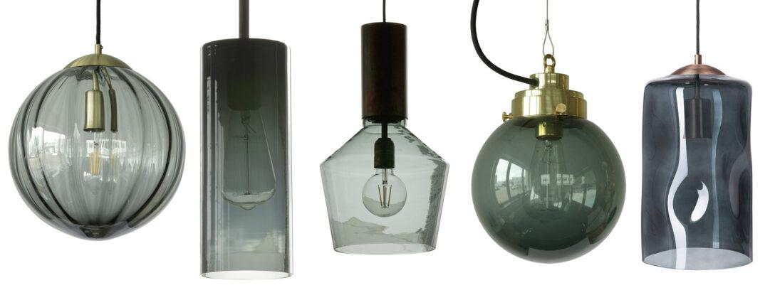 Large Size of Rauchglas Hngelampen Mit Dunkel Gefrbten Schirmen Wohnzimmer Hängelampen