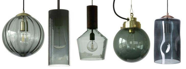 Medium Size of Rauchglas Hngelampen Mit Dunkel Gefrbten Schirmen Wohnzimmer Hängelampen