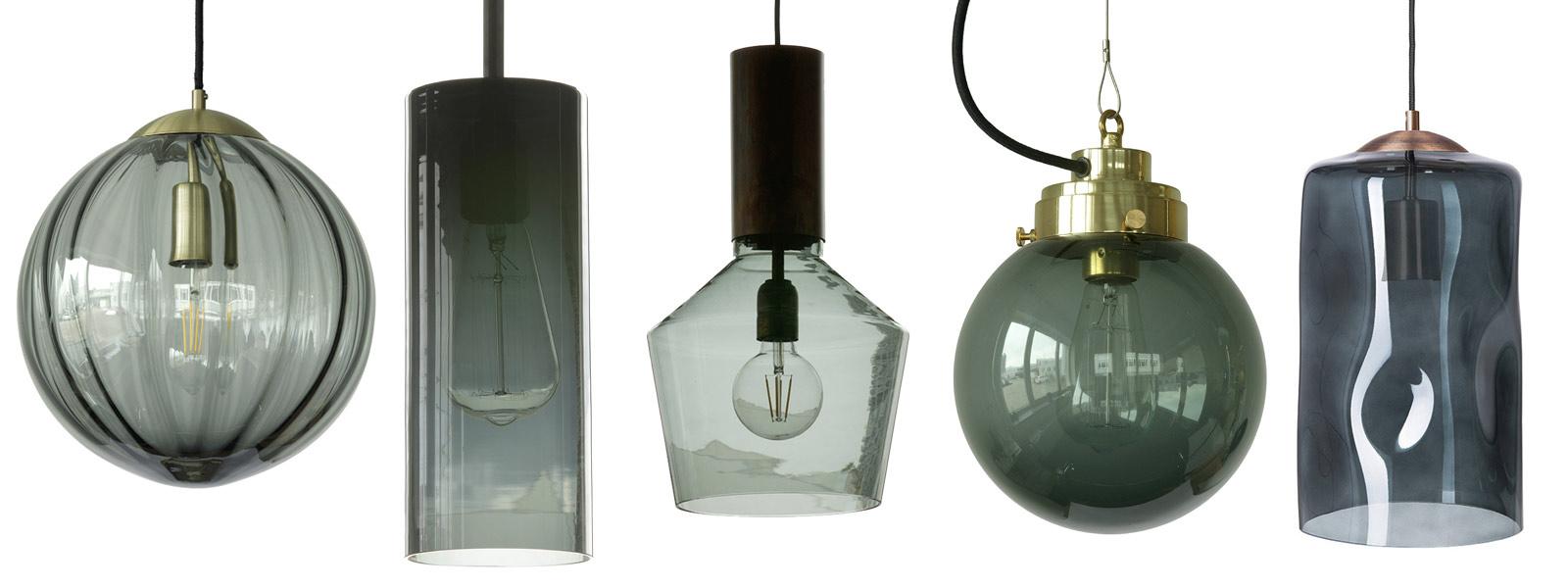 Full Size of Rauchglas Hngelampen Mit Dunkel Gefrbten Schirmen Wohnzimmer Hängelampen