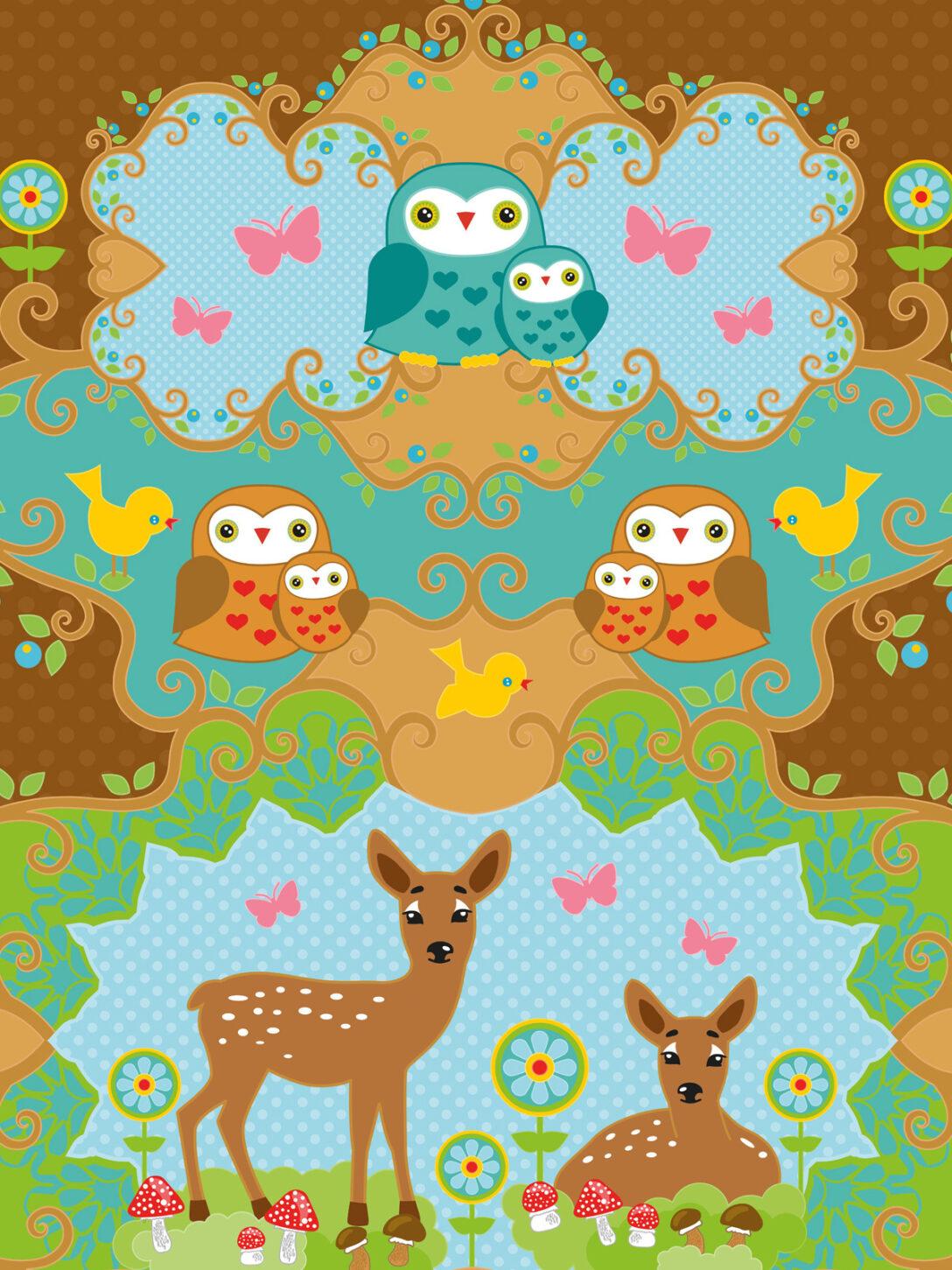 Large Size of Wandbild Kinderzimmer Tapete Rehkitz Bellino Mit Eulen Miyo Mori Sofa Wohnzimmer Regal Regale Weiß Wandbilder Schlafzimmer Kinderzimmer Wandbild Kinderzimmer