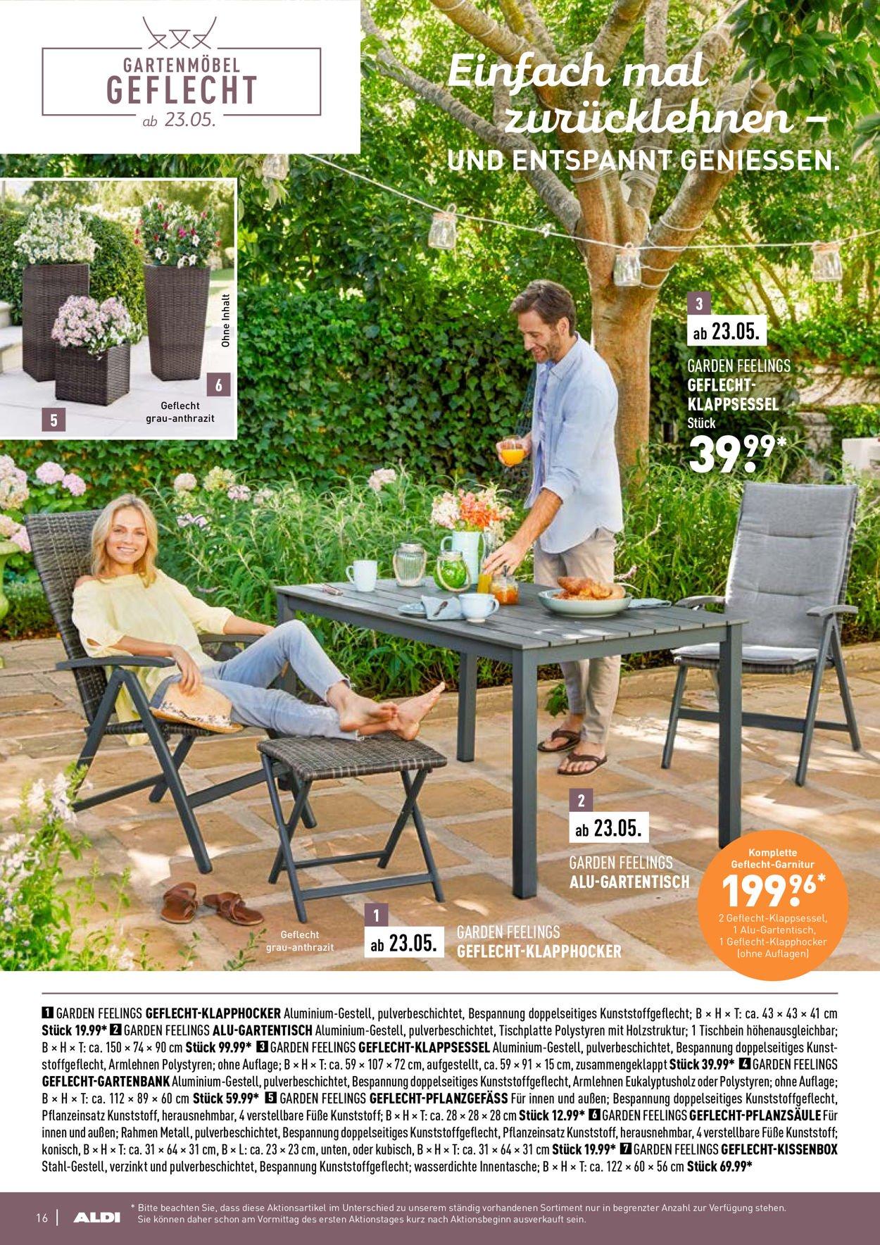 Full Size of Aldi Nord Aktueller Prospekt 2103 23052019 16 Jedewoche Relaxsessel Garten Wohnzimmer Gartentisch Aldi