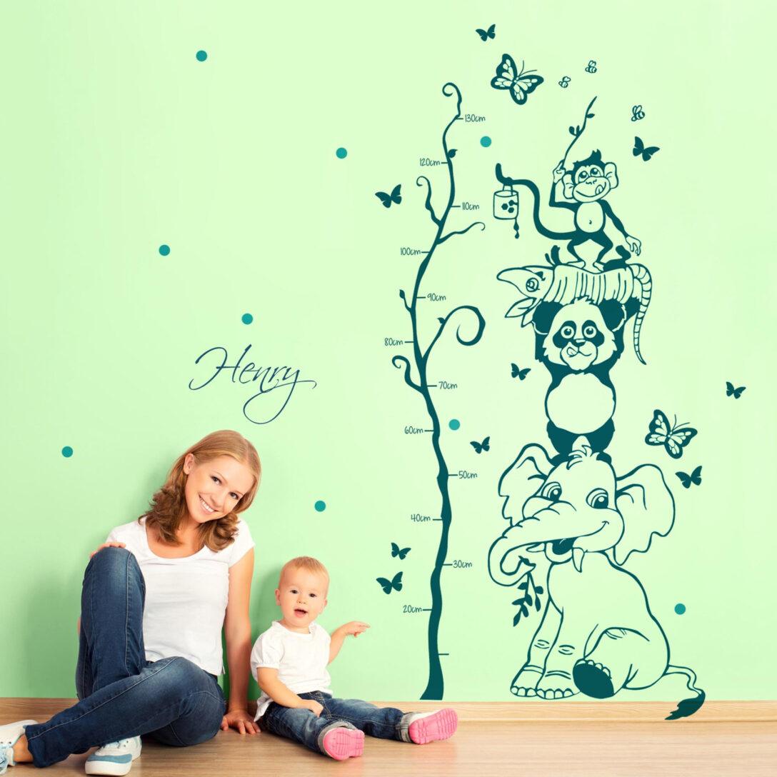 Large Size of Messlatte Kinderzimmer Wandtattoo Dschungel Tiere Baum Mit Wunschnamen Und Regal Weiß Sofa Regale Kinderzimmer Messlatte Kinderzimmer