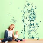 Messlatte Kinderzimmer Kinderzimmer Messlatte Kinderzimmer Wandtattoo Dschungel Tiere Baum Mit Wunschnamen Und Regal Weiß Sofa Regale