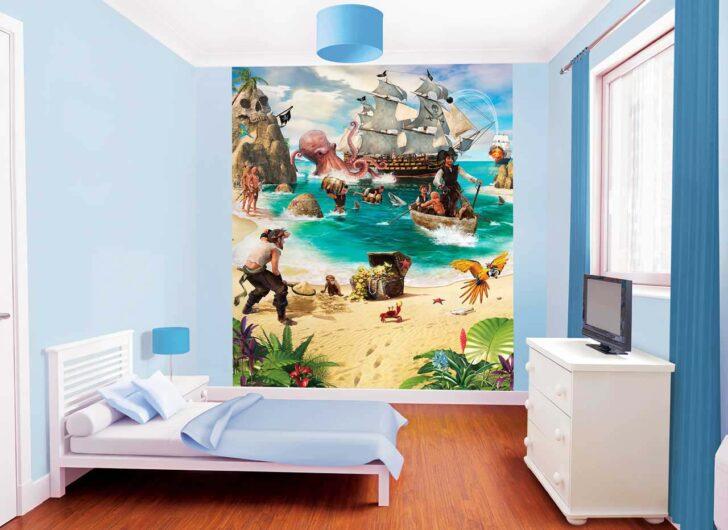 Medium Size of Fototapete Kinderzimmer Piraten Schatzinsel Tapetenwelt Regal Weiß Regale Sofa Kinderzimmer Piraten Kinderzimmer