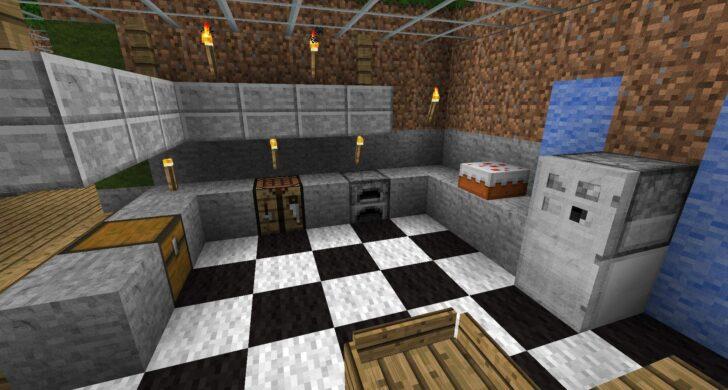 Medium Size of 35 Einzigartig Minecraft Wohnzimmer Frisch Einbauküche Ohne Kühlschrank Mit Elektrogeräten Küche L Form Industrial Spülbecken Eckschrank Gewinnen Outdoor Wohnzimmer Minecraft Küche