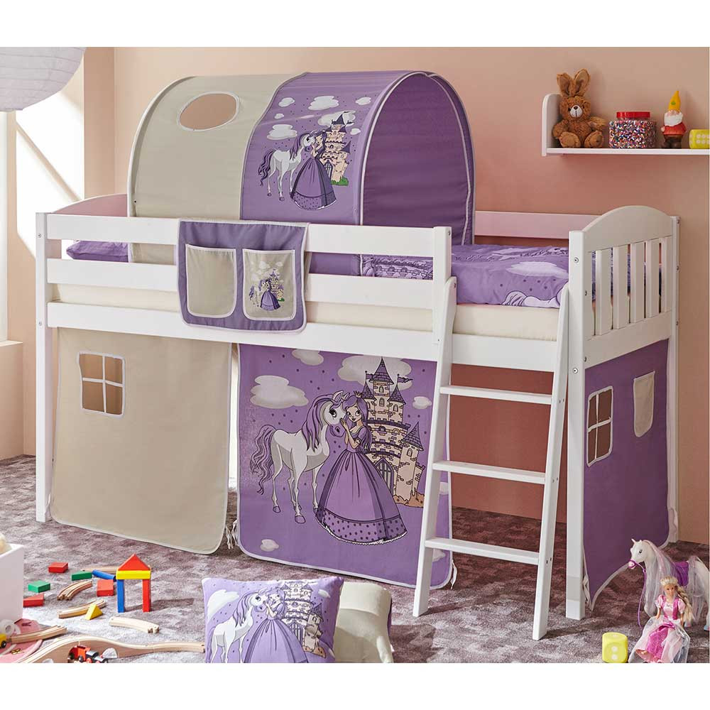 Full Size of Kinderbett Mädchen Mdchen Ashly Mit Tunnel In Lila Halbhoch Pharao24de Bett Betten Wohnzimmer Kinderbett Mädchen