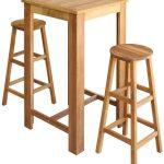 Amazonde Festnight Bartisch Und Hocker Set 3 Tlg Stehtisch Wohnzimmer Küchenbartisch