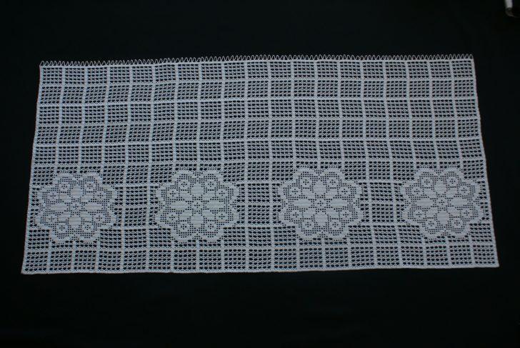 Medium Size of Crocheted Disc Gardine With Flowers Gardinen Küche Für Wohnzimmer Fenster Die Scheibengardinen Schlafzimmer Wohnzimmer Gardine Häkeln