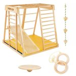 1 Kidwood Klettergerst Rakete Game Set Aus Holz Fr Indoor Klettergerüst Garten Wohnzimmer Klettergerüst Indoor