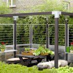 Garten Im Quadrat Stahlspalier Cubic Trampolin Spielturm Mastleuchten Edelstahl Schaukelstuhl Sichtschutzfolie Fenster Einseitig Durchsichtig Und Wohnzimmer Sichtschutz Garten Modern