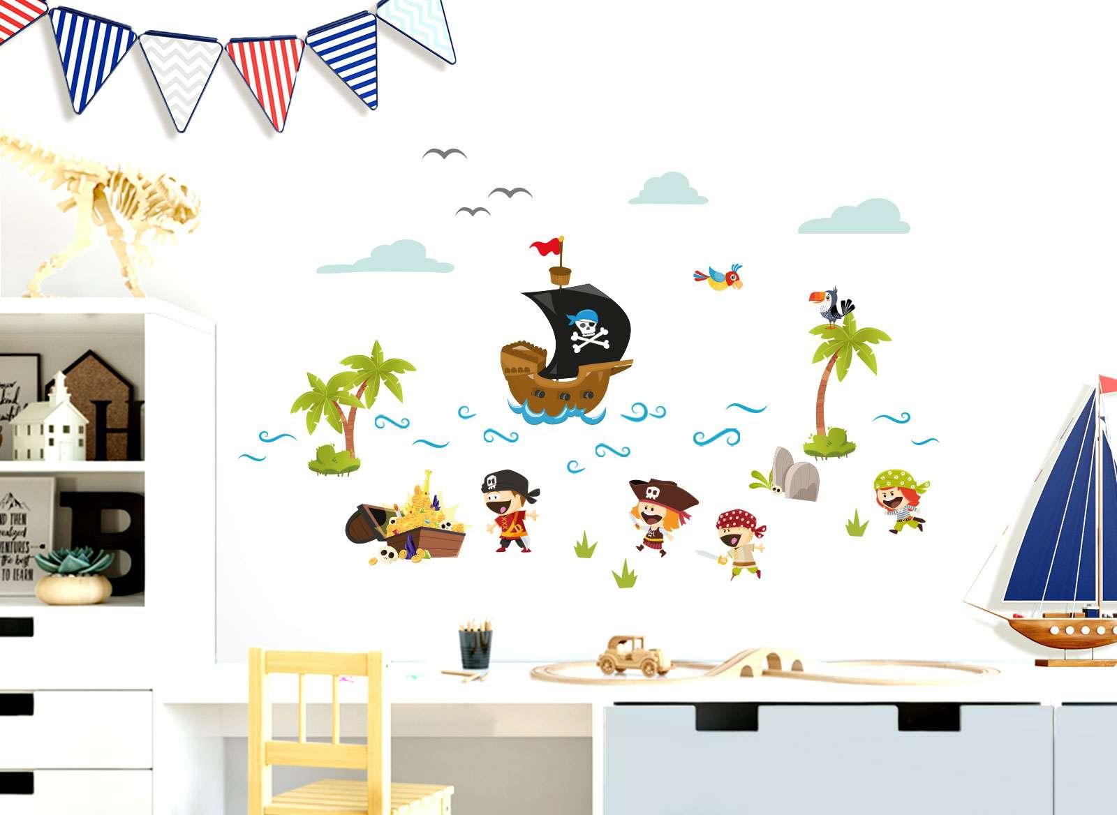 Full Size of Piraten Kinderzimmer Little Deco Wandtattoo Schiff Schatz Dl330 Jungs Regale Regal Sofa Weiß Kinderzimmer Piraten Kinderzimmer