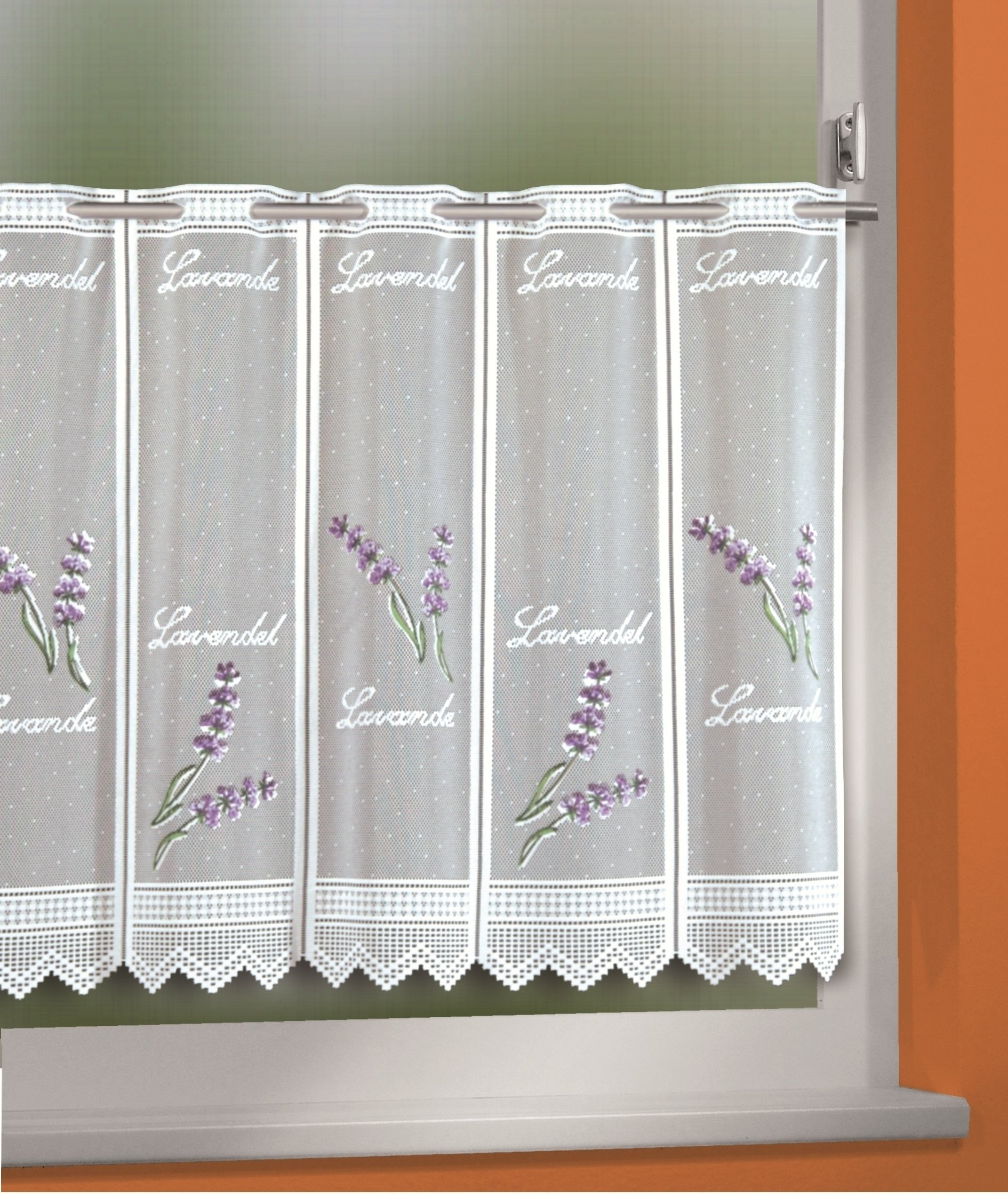 Full Size of Küchengardinen Kchengardine Lavendel Wei Violett 150 45 Cm Sb Lagerkauf Wohnzimmer Küchengardinen