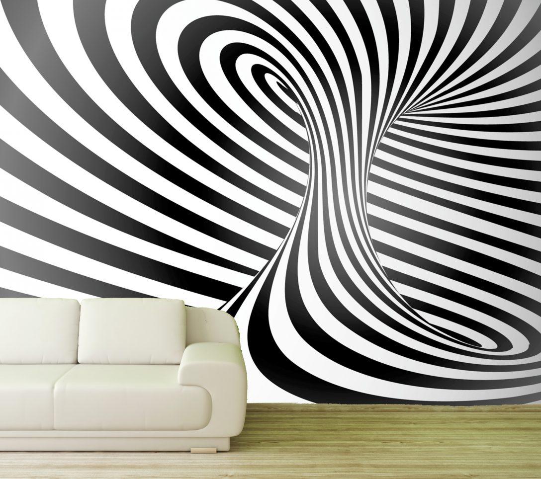 Large Size of 3d Fototapete Vlies Tapete Effekt Streifen Wirbel Zebra Muster Fototapeten Wohnzimmer Fenster Küche Schlafzimmer Wohnzimmer 3d Fototapete