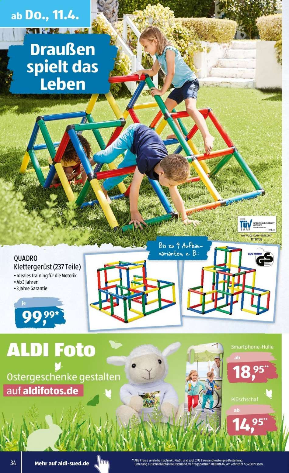 Full Size of Quadro Klettergerüst Aldi Sd Aktuelles Prospekt 842019 1342019 Rabatt Kompass Garten Wohnzimmer Quadro Klettergerüst