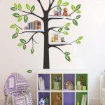 Bücherregal Baum Wohnzimmer Bücherregal Baum Regal Aufkleber Mit Vgel Vogel Etsy Bett Nussbaum 180x200 Esstisch Baumkante
