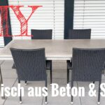 Esstisch Betonplatte Esstische Esstisch Betonplatte Eine Tischplatte Aus Beton Selber Machen Sofa Massiv Ausziehbar Vintage Wildeiche Mit Baumkante Ovaler Esstische Bogenlampe Stühlen