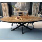 Esstisch Oval Esstische Esstisch Oval Metall Gestell Industrial Stühle Rustikaler Pendelleuchte Lampen Kernbuche Akazie Kolonialstil Holz Weiß Runder Ausziehbar Mit 4 Stühlen