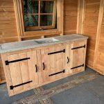 Outdoor Kche Aus Holz Selber Bauen Inklusive Eingebautem Grill Wellmann Küche Möbelgriffe Industrielook Behindertengerechte Deckenleuchte Einbauküche Kaufen Wohnzimmer Outdoor Küche