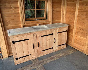 Outdoor Küche Wohnzimmer Outdoor Kche Aus Holz Selber Bauen Inklusive Eingebautem Grill Wellmann Küche Möbelgriffe Industrielook Behindertengerechte Deckenleuchte Einbauküche Kaufen