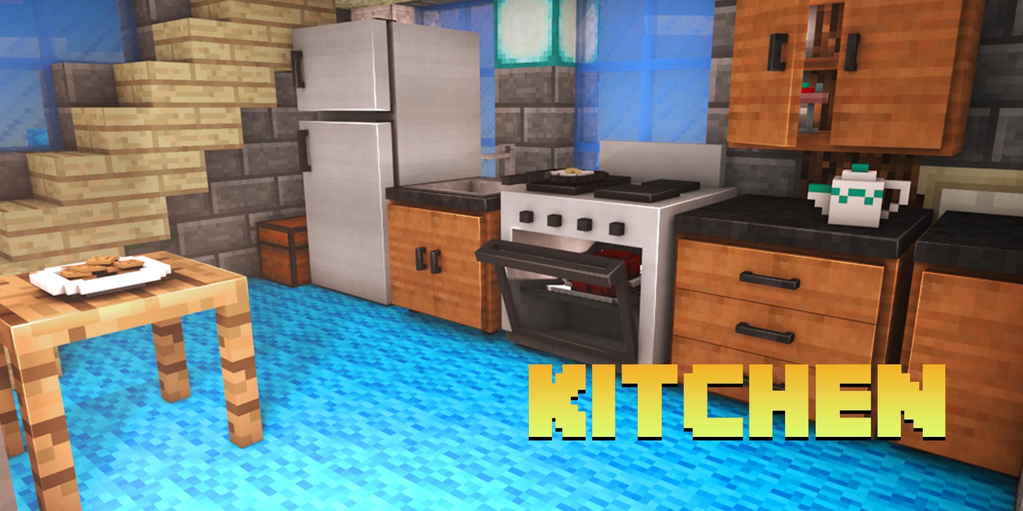 Full Size of Minecraft Küche Mbel Mods Fr Pe Android Apk Herunterladen Schmales Regal Scheibengardinen Modulare Arbeitsplatte Deckenleuchten Laminat Eiche Hell Türkis Mit Wohnzimmer Minecraft Küche