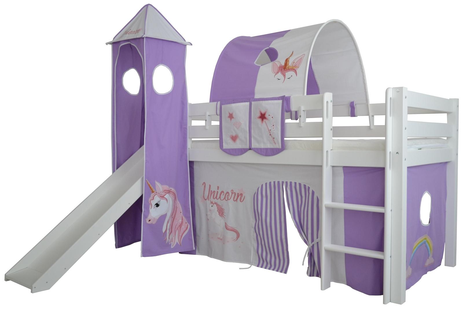Full Size of Hochbett Kinderzimmer Halbhohes Einhorn Massivholz Mit Leiter Und Regale Regal Weiß Sofa Kinderzimmer Hochbett Kinderzimmer