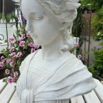 Bste Statur Skulptur Wei Frauenkopf Shabby Landhaus Garten Tisch Bewässerung Schaukelstuhl Spielhaus Holz Lärmschutzwand Sichtschutz Für Stapelstühle Wohnzimmer Skulptur Garten