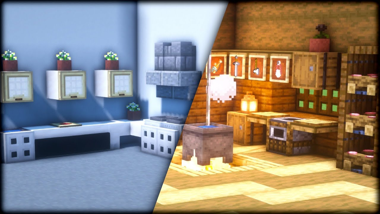 Full Size of Minecraft Küche Wie Baut Man Eine Kche In Was Vinyl Gebrauchte Verkaufen Billig Kaufen Gardinen Für Ohne Hängeschränke Landhausküche Weiß Türkis Wohnzimmer Minecraft Küche