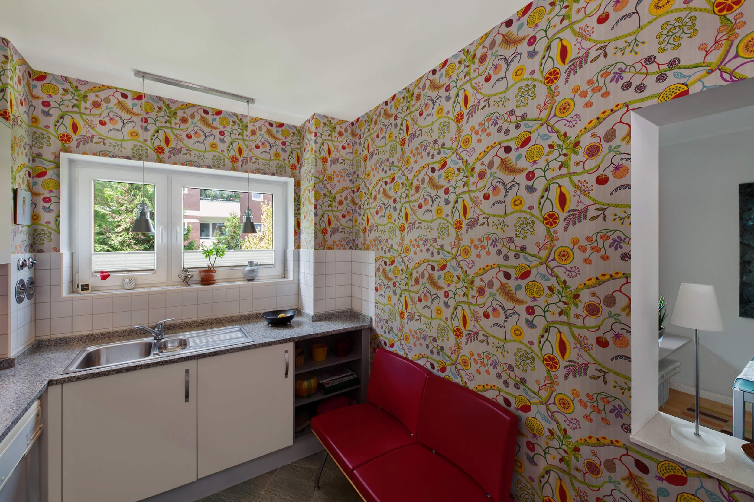 Full Size of Blumenmuster Kchentapeten Adler Wohndesign Wohnzimmer Küchentapeten