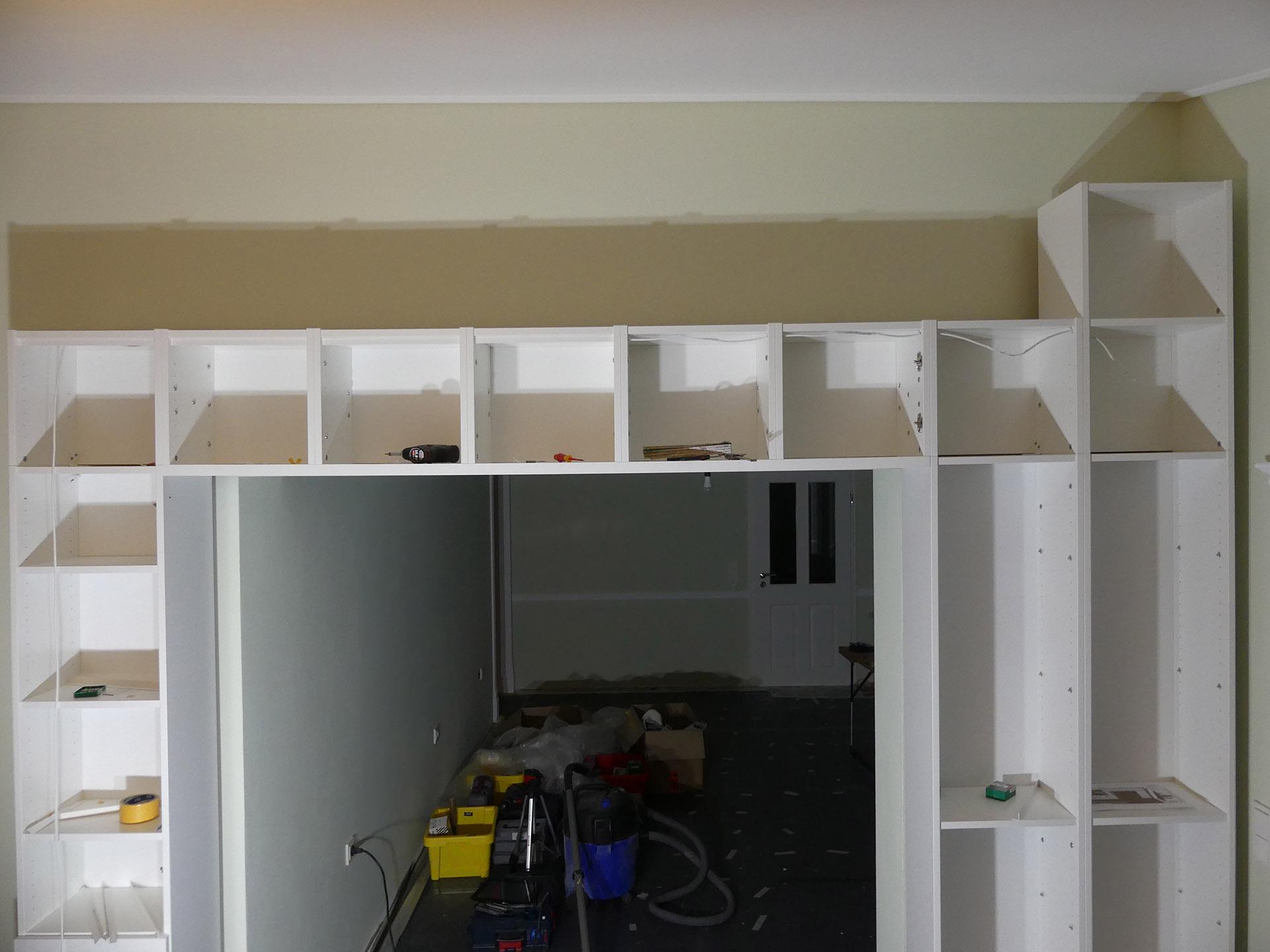 Full Size of Schritt 1 Der Anfang Bauarbeiten The Ikea Billy Project Regal Für Dachschräge Regale Aus Europaletten Gebrauchte 30 Cm Breit Tisch Kombination Weißes Regal Regal Zum Aufhängen