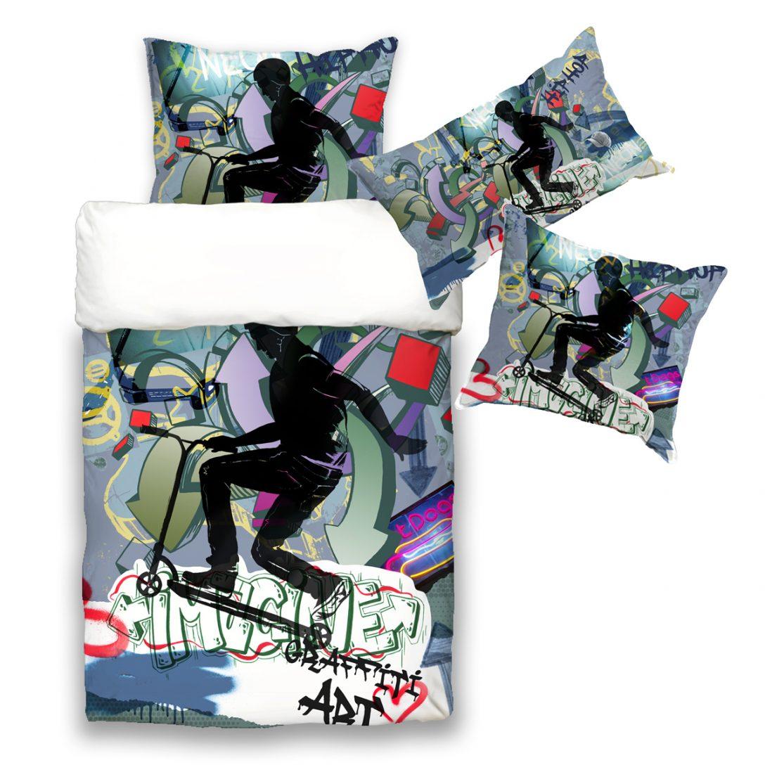 Large Size of Jugend Wende Bettwsche Kissenbezug Graffiti Scooter Beties Betten Für Teenager Bettwäsche Sprüche Wohnzimmer Bettwäsche Teenager
