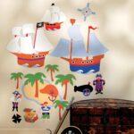 Piraten Kinderzimmer Kinderzimmer Wandsticker Wandbild Piraten Kinderzimmer Regal Weiß Regale Sofa