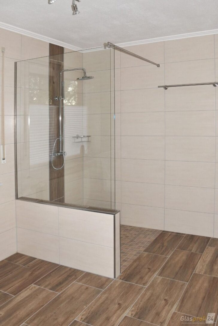 Medium Size of Glas Duschabtrennung Mit Einem Verkrztem Festteil Unterputz Armatur Dusche Rainshower Walk In Ebenerdige Kosten Bodengleiche Nachträglich Einbauen Bidet Dusche Glasabtrennung Dusche