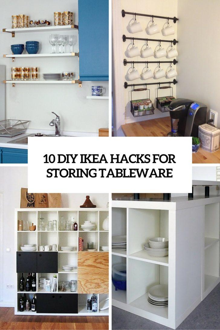 Medium Size of Ikea Hacks 10 Diy For Storing Tableware In Your Kitchen Shelterness Küche Kosten Sofa Mit Schlaffunktion Kaufen Betten 160x200 Miniküche Modulküche Bei Wohnzimmer Ikea Hacks