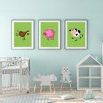 Kinderzimmer Pferd Kinderzimmer Mbel Wohnen Dekoration Kuh Pferd Schwein Bauernhof Tiere Set Regal Kinderzimmer Weiß Regale Sofa