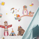 Wandtatoo Kinderzimmer Kinderzimmer Wandtattoo Indianer Tierische Kinderzimmer Dekoration Regal Sofa Wandtatoo Küche Regale Weiß