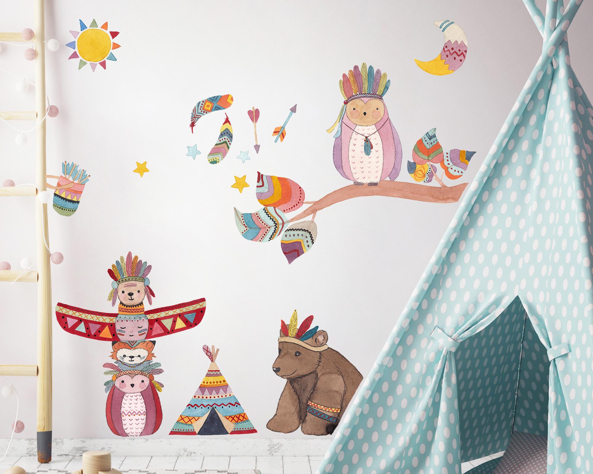 Full Size of Wandtattoo Indianer Tierische Kinderzimmer Dekoration Regal Sofa Wandtatoo Küche Regale Weiß Kinderzimmer Wandtatoo Kinderzimmer