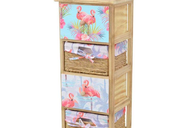 Regal Mit Körben Regal Regal Mit Körben 30x74x30 Schubksten Krben In Natur Flamingo Stoff Pantryküche Kühlschrank Rollen Kleines Miniküche Nach Maß Bett 90x200 Lattenrost