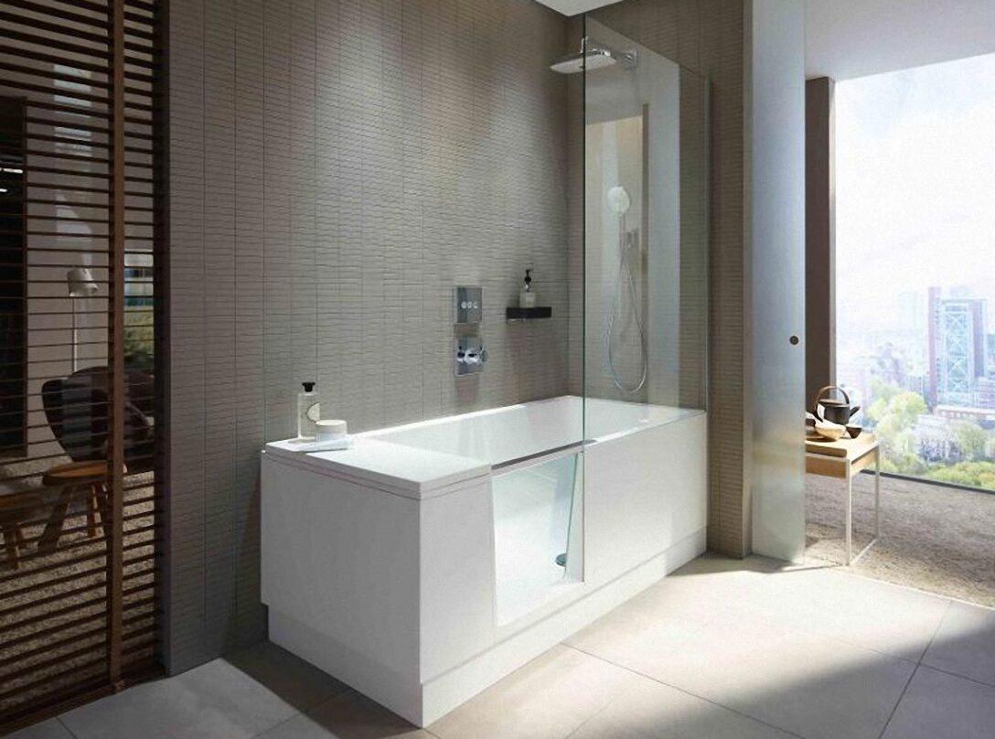 Large Size of Shower Bath Walk In Dusche Und Badewanne La Duravit Nischentür Mischbatterie Anal Ebenerdige Rainshower Mit Tür Einbauen Ebenerdig Glastrennwand Bodenebene Dusche Badewanne Dusche