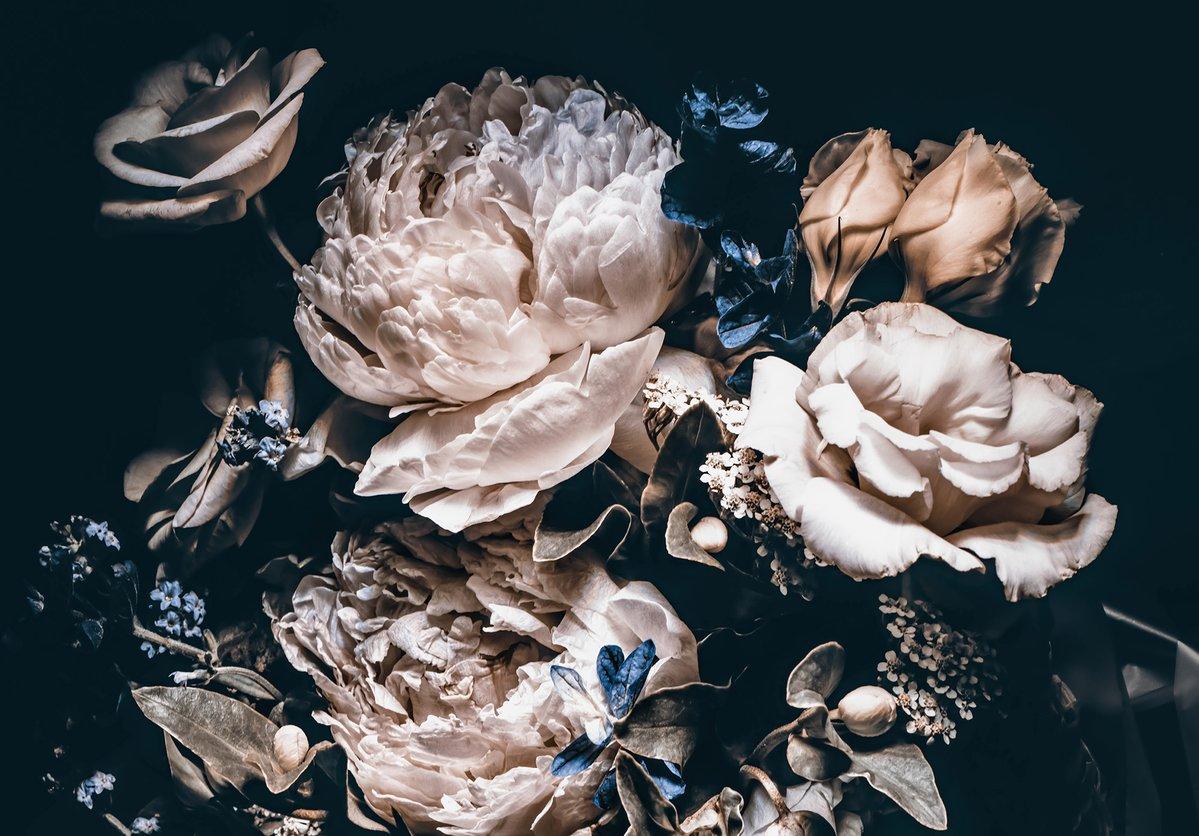 Full Size of Fototapete Blumen Vlies 3d Schlafzimmer Blumenwiese Weiss Kaufen Vintage Rosa Fototapeten Dunkel Bunte Rosen Komar Schwarz Wanddekorationde Wohnzimmer Küche Wohnzimmer Fototapete Blumen