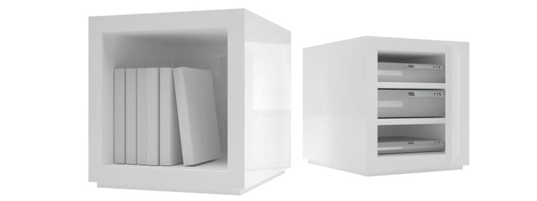 Large Size of Regal Weiß Hochglanz Regalsystem Lectulus Quadratische Design Wrfel Von Auf Maß Günstig Wohnzimmer Vitrine Bett 100x200 Tv Kinderzimmer Fächer Cd Dvd Regal Regal Weiß Hochglanz