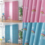Kinderzimmer Vorhang Kinderzimmer Vorhang Cartoon Regenbogen Fr Pink Oder Blau Regal Regale Bad Sofa Weiß Küche