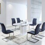 Esstisch Set Bambari A13 Inkl 6 Sthle Grau 120 150 80 L Eiche Glas Ausziehbar Industrial Weißer Stühle Altholz Esstischstühle Und Esstische Rund Günstig Esstische Stühle Esstisch